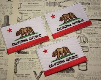 Jacket Patch California Republic State Seal Logo Price PER Patch Emblem Bear Flag Work Shirt Uniform Red Black Vintage Jacket Coat Shirt