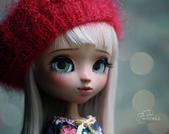Blythe/Pullip Beret STRAWBERRY MARMELADE By Odd Princess Atelier, New Collection, Hand Knitted Collection