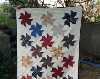 Rustic throw, lap quilt