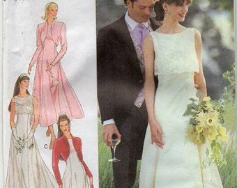 Wedding Dress Prom Gown Bolero Bridesmaid Bridal Evening Formal Wear Size 8 10 12 14 16 18 Sewing Pattern 1995 Style 2692 Plus Size