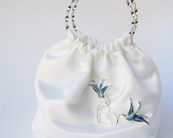 Bridal Clutch, Love Birds, White