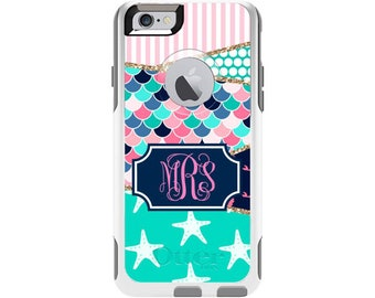 Mermaid Scales Personalized Custom Otterbox Commuter Case for iPhone 6 and iPhone 6s