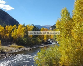 Fall In Colorado, Colorado Art, Clear Creek Colorado Fall 2016, Fall, Creek, Mountain Creeks, Mountains and Creeks, Art for Businesses, Art