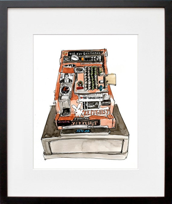 Zeitgeist Cash Register Print (from Meanwhile, Mission Bartenders)