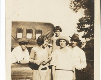 Tailgate Family 1924 vintage snapshot old photo found photograph vernacular social realism snap