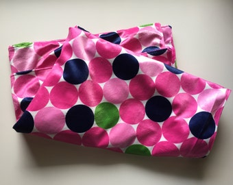 Baby Toddler Pink Dots Minky Blanket // In Stock Ready to Ship