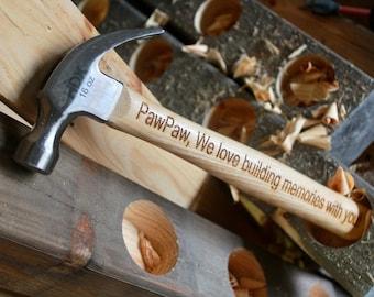 Custom Engraved hammers, gift, groomsmen gift,handyman , carpenter gift, builder, birthday, anniversary gift, mr fix it, housewarming gift,