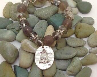 Meditation bracelet with Buddha Charm