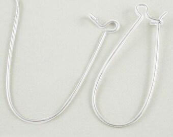 Silver Kidney Hooks - Nickel Free - 33mm Long, 14mm wide