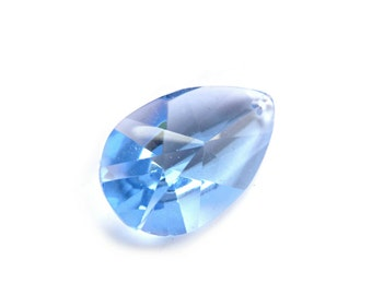 Teardrop Briolette, Huge Briolette, Topaz Blue Briolette, Lake Blue Briolette, Big Briolette, Green Briolette, Translucent Green, Blue