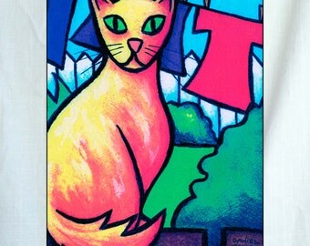 Orange Tabby Ready to Hang Wall Art 6x8x1.5 inches