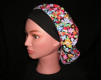 skull bouffant scrub hat