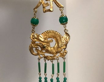 Vintage ART Asian Inspired Statement Necklace