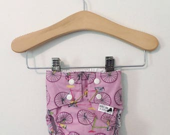Lavender Bikes PUL Lined Water Resistant Diaper Cover Available in Small
