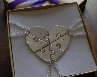 Custom six piece heart