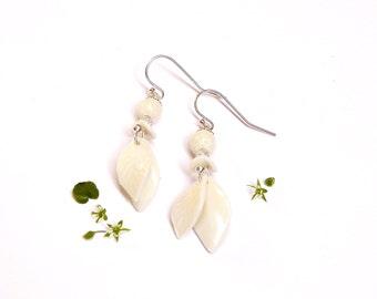 Porcelain earrings
