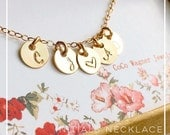 Initials Necklace / Personalized Initials Necklace / TINY Initials Hand Stamped Necklace /Grandmother Gift, Mother, Friends, Family Necklace