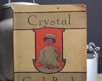 Vintage 1905 Crystal Cook Book // The Warner Baking Powder Company