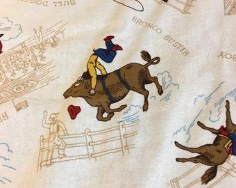 Retro cowboy baby blanket