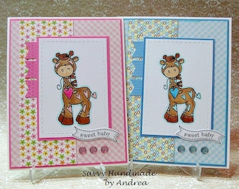 Baby Greeting Card, Baby Card with Giraffe, New Baby Card