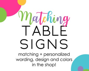 Matching Party Table Tags Food Labels Buffet Signs for Baby Shower Birthday Bridal Brunch Dinner Reception Wedding Celebrations Paper Supply