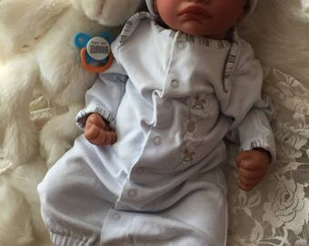 Completed Bi Racial Reginald Completed Reborn Baby Doll from the Aisha 20 inch kit