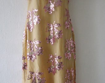 Sequin Sheer Net Indian Vintage Dress