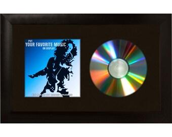 "Black CD Display Mat Complete w/ 1"" Wide Black Picture Frame (CD1WB3BK0712)"