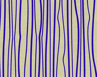 PRESALE - Diving Board - Seagrass on Tailored Cloth in Cobalt (Linen Blend) - Alison Glass for Andover - ALN-8640-B - 1/2 yd