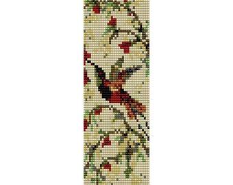 Hummingbird 2 Loom Bead Pattern, Bracelet Pattern, Bookmark Pattern, Seed Beading Pattern Miyuki Delica Size 11 Beads - PDF Instant Download