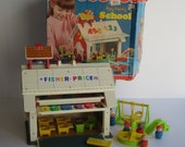 Vintage Fisher Price Play Family School #923- Excellent In Box