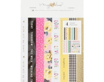 ON SALE Maggie Holmes Bloom Washi Booklet 59 Pieces for Scrapbooks, Journals, Cards, Planners and More