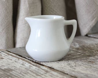 Charming Vintage White Ironstone Creamer Pitcher ~ Classic Restaurantware ~ No Damage