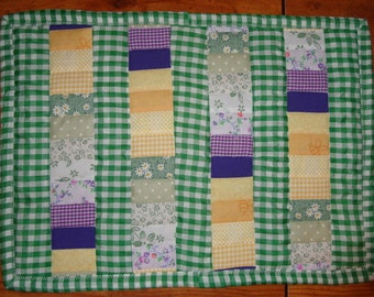All in a Row Quilted Placemat Pattern Digital Download by Sew Practical, Mom and Pop Craft