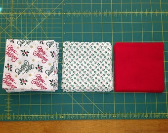 104 Total 4 1/2 Inch Christmas Quilt Squares Set 1 Build Your Stash by Sew Practical, Mom and Pop Craft