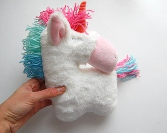 Stuffed unicorn toy Horse Stuffed Animal rainbow party