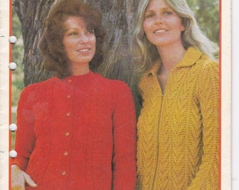 Paton's Chill Cheaters in Jet or Skol, Knitting Pattern Book No 321  Vintage 1970s