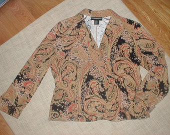 Requirements Size 14 Lightweight Jacket *Paisley Pattern* Earthtones Muted Colours