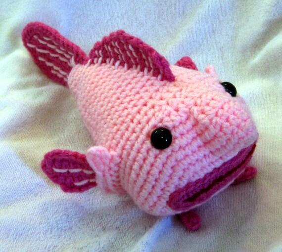 Amigurumi Crochet Wikipedia : Small amigurumi blobfish made to order