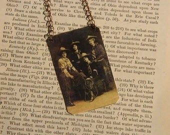 Cowgirl jewelry necklace mixed media jewelry Four Cowgirls
