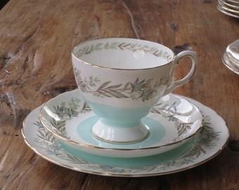 Tuscan vintage china tea cup trio