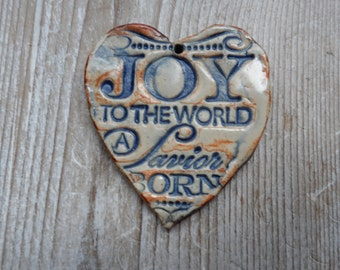 Joy Christmas Jewelry Pendant