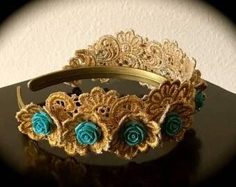 Sea Nymph Gold Lace Tiara