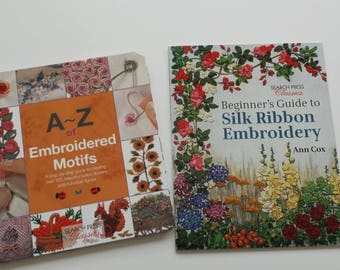 SHOP CLOSING SALE  A-Z of Embroidered Motifs / Beginner's Guide to Silk Ribbon Embroidery Book