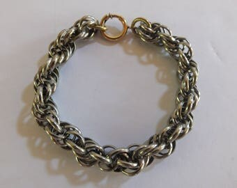 Silvertone Rope Chain Bracelet