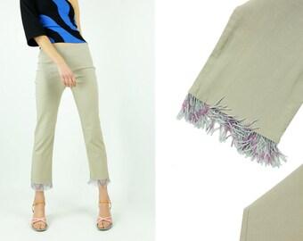 90s Pastel Fringe Pants