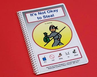 It's Not Okay to Steal - No Stealing - PECS Autism Social Story - Visual Therapy Book - The Autism Whisperer