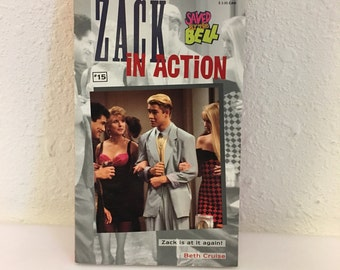 Vintage Book, Saved by the Bell #15, Zack in Action