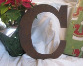 """Ready To Ship!  Metal letter """"C"""""""