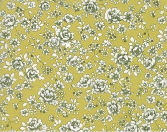 Regent Street Lawn 2016 by Moda - Floral Claremont - Light Green - 1/2 Yard Cotton Lawn Fabric 117